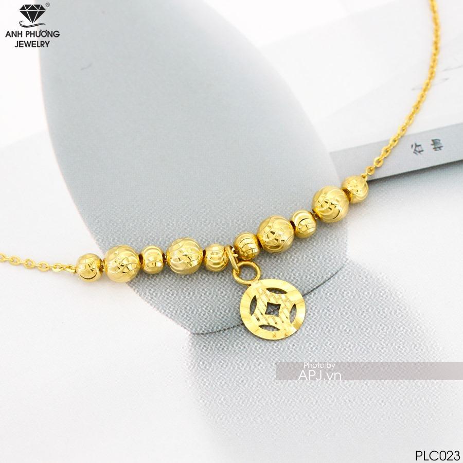 PLC023 - lắc chân vàng vàng đẹp