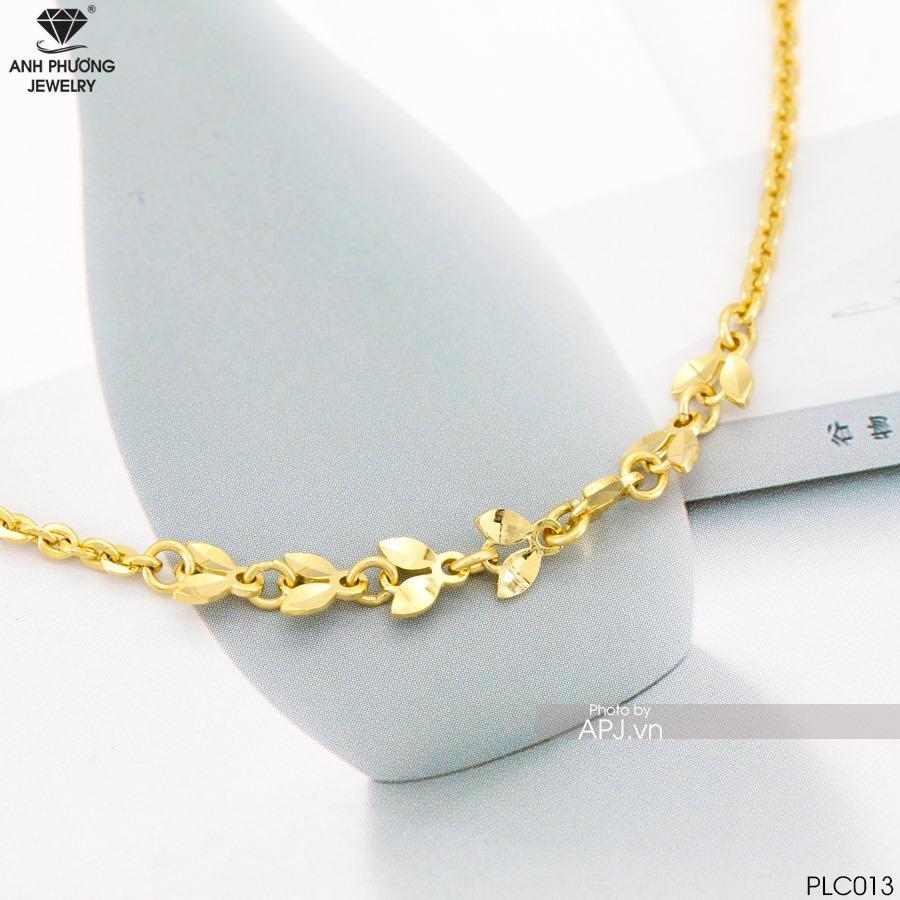 PLC013 - lắc chân vàng vàng đẹp