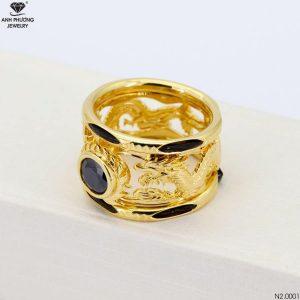 Nhẫn Nam Rồng Vàng 18K Đính Đá CZ - N2.0001-1