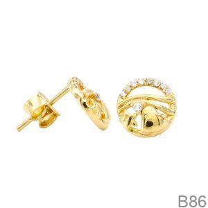 Bông Tai Vàng Vàng 18k - B86