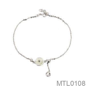 Lắc Chân Vàng Trắng 10k - MTL0108