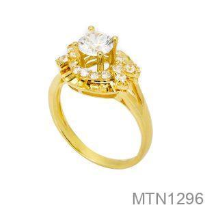 Nhẫn Nữ Vàng Vàng 18k Đính Đá Cz - MTN1296