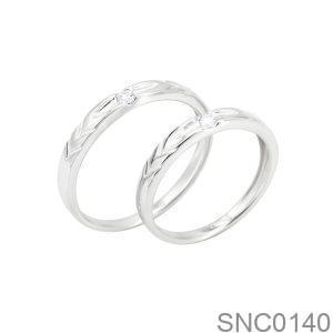 Nhẫn Bạc Chung Đôi - SNC0140
