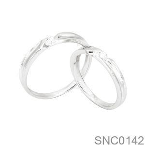 Nhẫn Bạc Chung Đôi - SNC0142