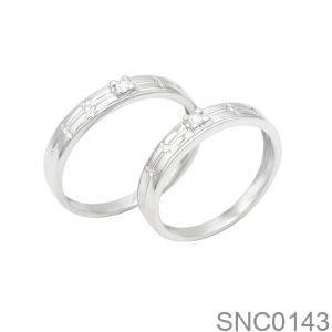 Nhẫn Bạc Chung Đôi - SNC0143