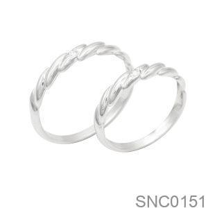 Nhẫn Bạc Chung Đôi - SNC0151