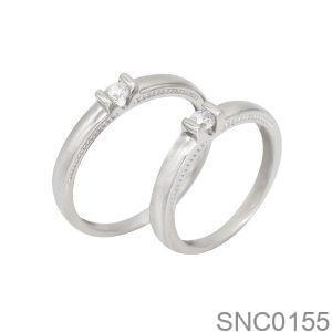 Nhẫn Bạc Chung Đôi - SNC0155