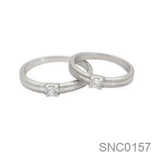 Nhẫn Bạc Chung Đôi - SNC0157