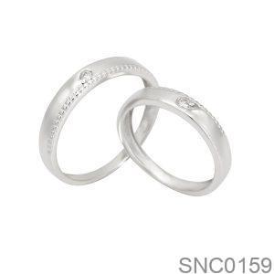 Nhẫn Bạc Chung Đôi - SNC0159