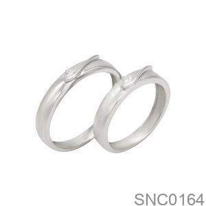 Nhẫn Bạc Chung Đôi - SNC0164
