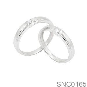 Nhẫn Bạc Chung Đôi - SNC0165