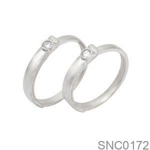 Nhẫn Bạc Chung Đôi - SNC0172