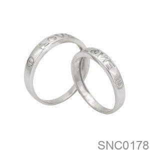 Nhẫn Bạc Chung Đôi - SNC0178