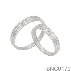 Nhẫn Bạc Chung Đôi - SNC0179