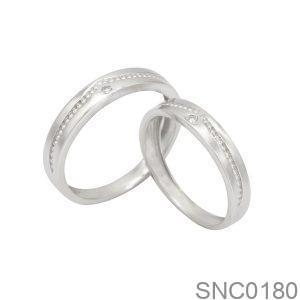 Nhẫn Bạc Chung Đôi - SNC0180