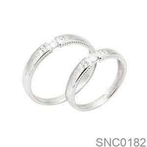 Nhẫn Bạc Chung Đôi - SNC0182