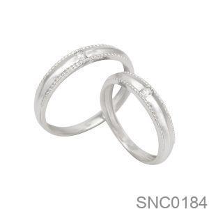 Nhẫn Bạc Chung Đôi - SNC0184