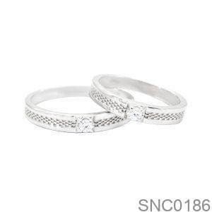 Nhẫn Bạc Chung Đôi - SNC0186