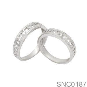 Nhẫn Bạc Chung Đôi - SNC0187