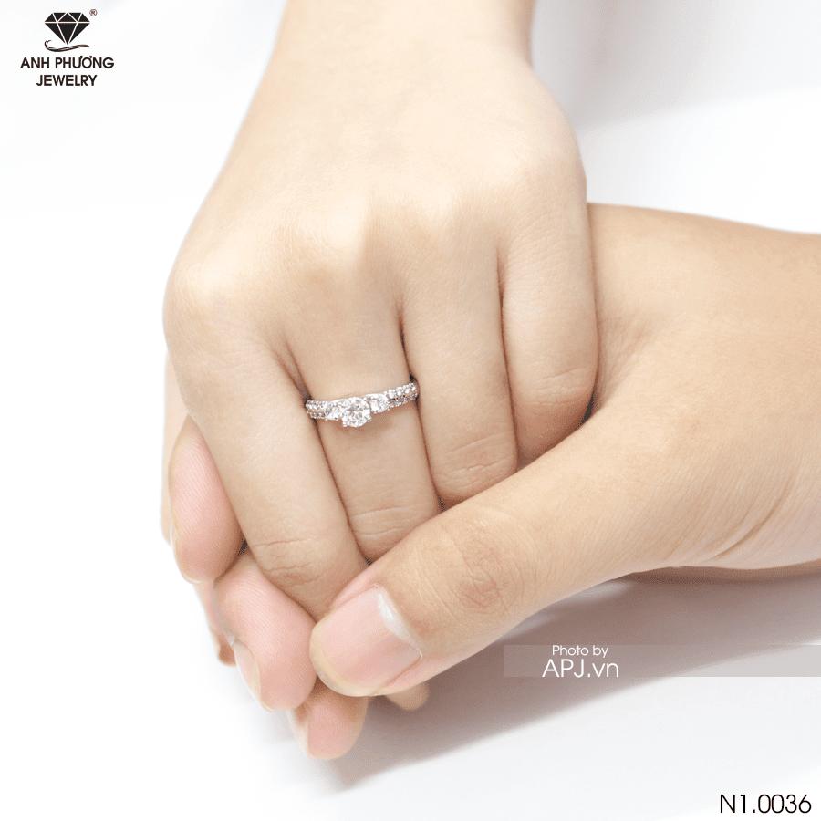 Nhẫn đính hôn bạch kim N1.0036