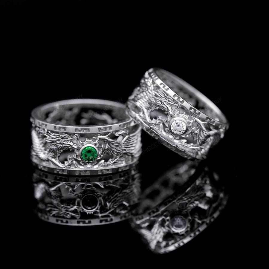 Các mẫu nhẫn cưới rồng phụng đẹp