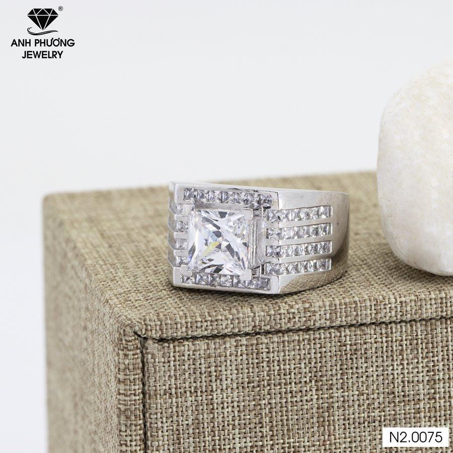 Nhẫn nam vàng trắng n2.0075