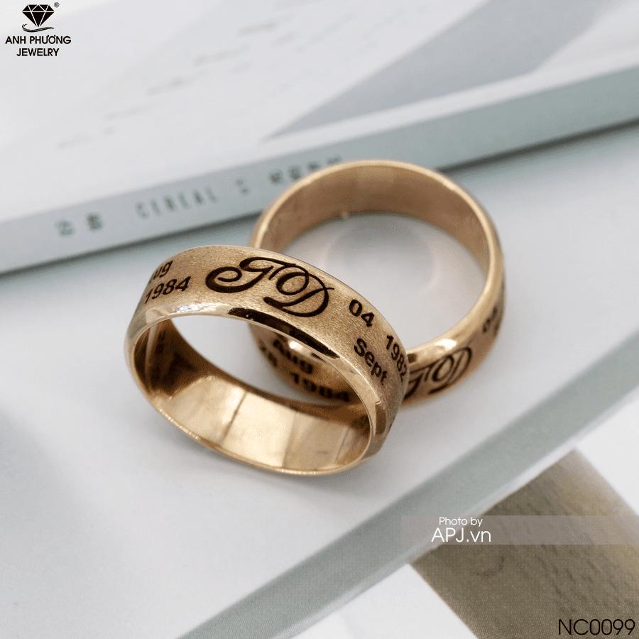 nhẫn cưới đai bản lớn