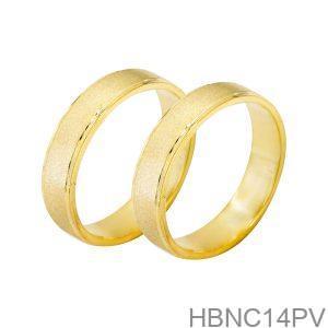 Nhẫn Cưới Vàng Vàng 18K - HBNC14PV