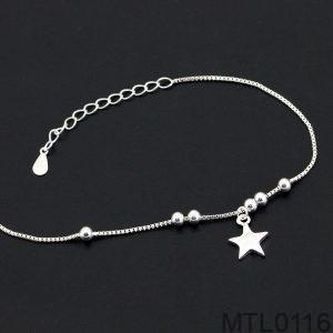 Lắc Tay Vàng Trắng 10k - MTL0116