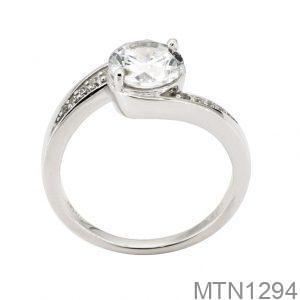 Nhẫn Nữ Vàng Trắng 10k Đính Đá Cz - MTN1294