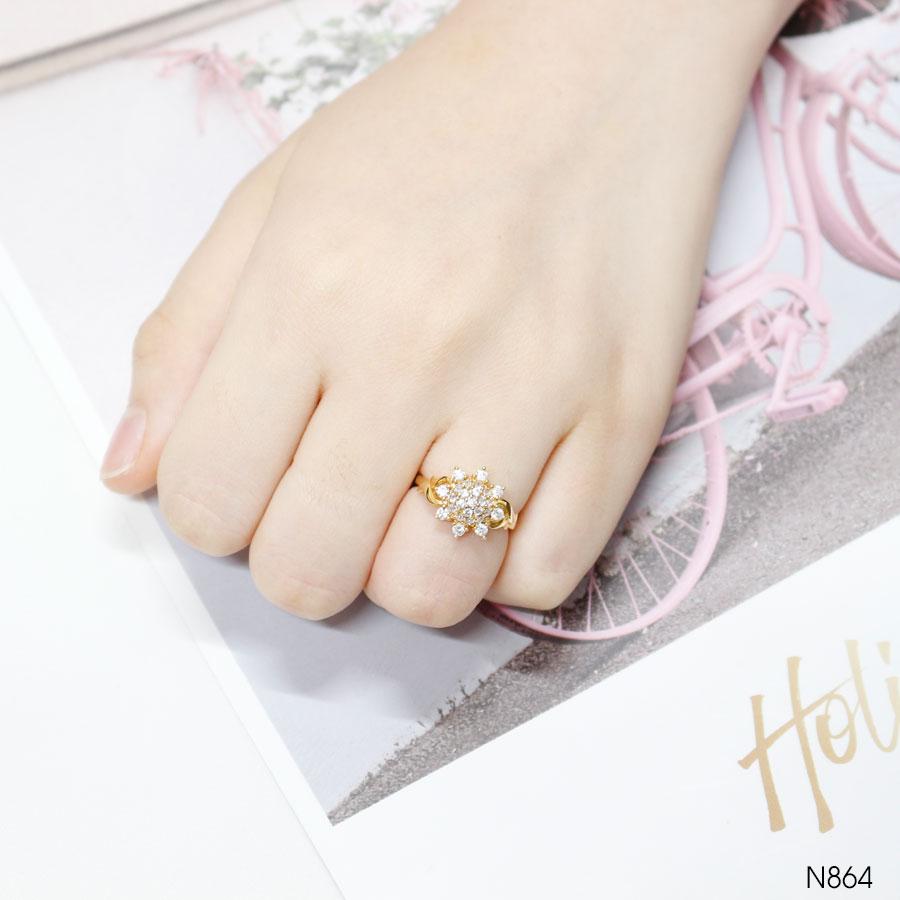 Nhẫn Nữ Vàng Vàng 18K Đính Đá CZ - N864