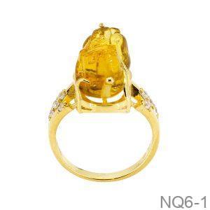 Nhẫn Nữ Vàng Vàng 10k Đính Đá Cz - NQ6-1