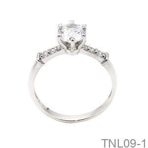 Nhẫn Nữ Vàng Trắng 10k Đính Đá Cz - TNL09-1