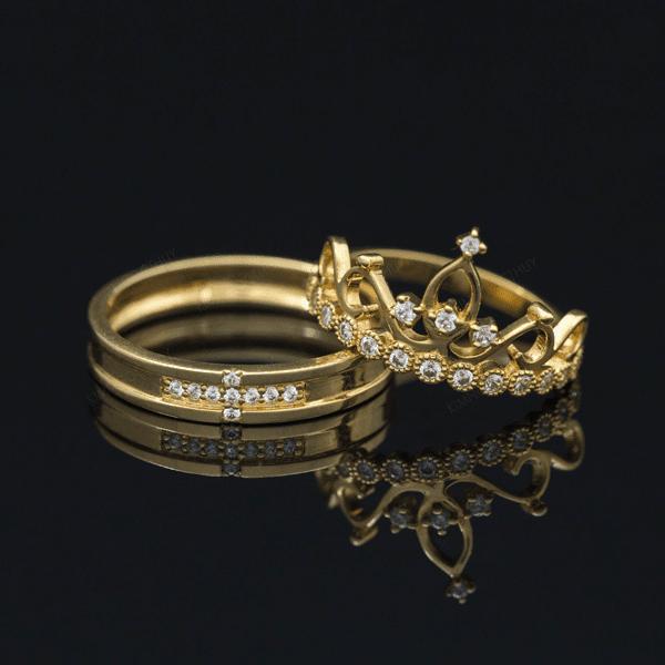 Nhẫn cưới vương miện khơi gợi sự thanh lịch