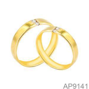 Nhẫn Cưới Vàng Vàng 18k Đính Đá Cz - AP9141