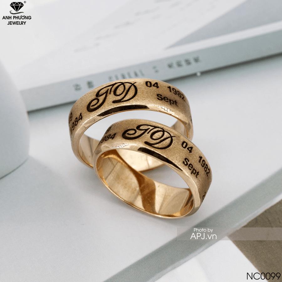Nhẫn cưới vàng vàng NC0099