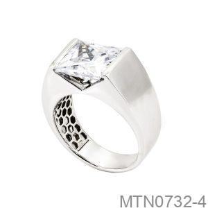 Nhẫn Nam Vàng Trắng 18K - MTN0732-4