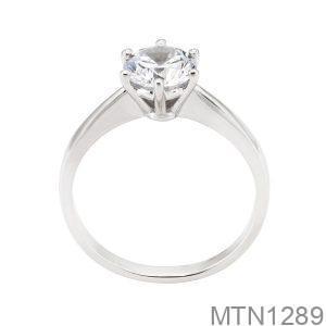 Nhẫn Nữ Vàng Trắng 10k Đính Đá Cz - MTN1289