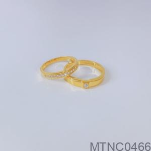 Nhẫn Cưới Vàng Vàng 18K - MTNC0466