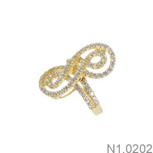Nhẫn Nữ Vàng Vàng 18K - N1.0202