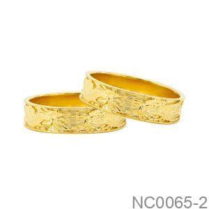 Nhẫn Cưới Vàng Vàng 18k Đính Đá Cz - NC0065-2