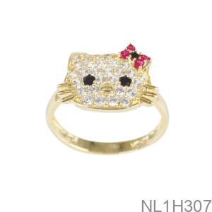 Nhẫn Nữ Vàng Vàng 18K - NL1H307