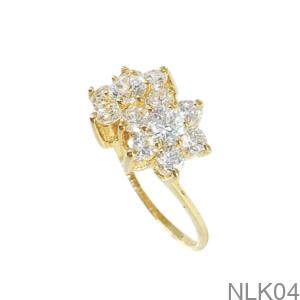 Nhẫn Nữ Vàng Vàng 18K - NLK04