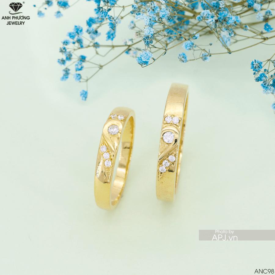 Nhẫn cưới vàng APJ 18k