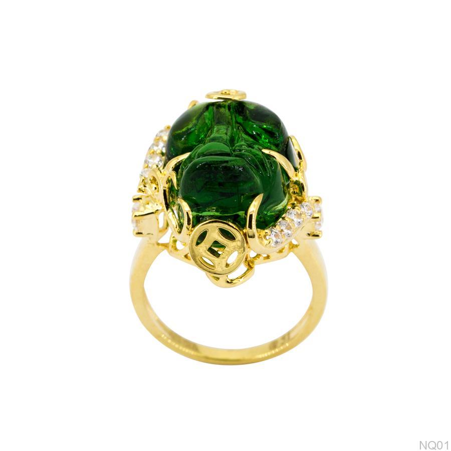 Nhẫn nữ tỳ hưu vàng NQ01