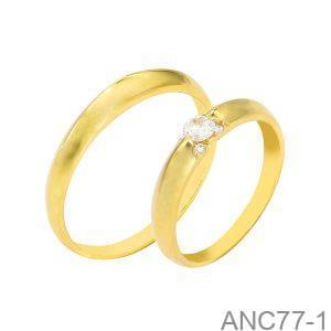 Nhẫn Cưới Vàng Vàng - ANC77-1