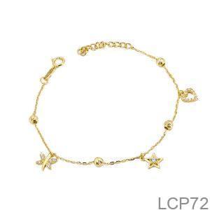 Lắc Chân Vàng Vàng 18K - LCP72
