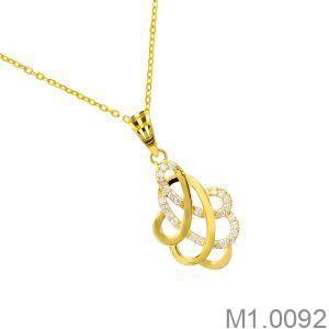 Mặt Nữ Vàng Vàng 18K - M1.0092