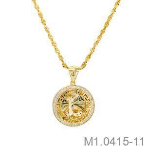 Mặt Dây Nữ Vàng Vàng 10K - M1.0415-11