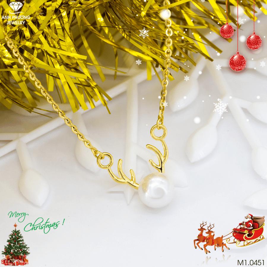 dây chuyền vàng Noel đẹp